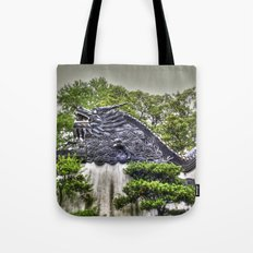 Dragon Rooftop Tote Bag