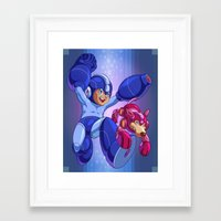 megaman Framed Art Prints featuring  Classic Megaman by albertsurpower