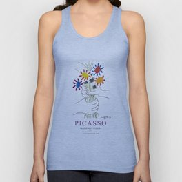 Picasso Exhibition - Mains Aus Fleurs (Hands with Flowers) 1958 Artwork Unisex Tank Top