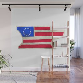 Betsy Ross Anvil Flag- Iron Ram Forge Wall Mural