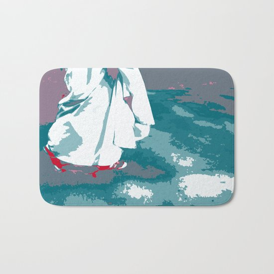 NY#12 Bride in Central Park (Lost Time) Bath Mat