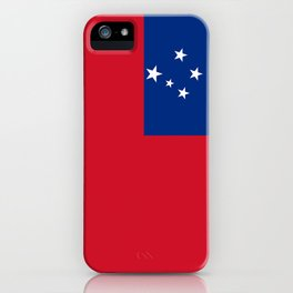 Samoan flag - Authentic version to scale and color iPhone Case