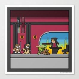 Mega Boss Battles - Palpatine vs. The Jedi Council Canvas Print