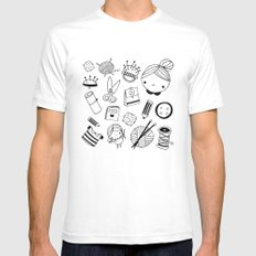 Handmade with love! Mens Fitted Tee SMALL White