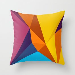 abstract seamless floral pattern exotic shapes Throw Pillow