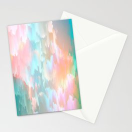 Candy Rainbow Glitch Fall #abstractart Stationery Cards