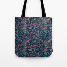 Pixel Flowers Tote Bag