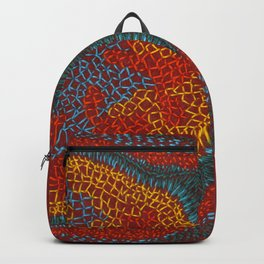 Growing - Lamium - plant cell embroidery Backpack