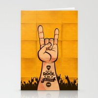 rock and roll Stationery Cards featuring Rock & Roll by Rodrigo Molina
