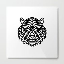 Tiger Head (Geometric) Metal Print