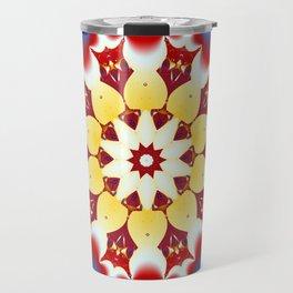 Robot Bird Mandala Travel Mug
