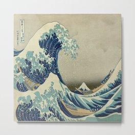Vintage poster - The Great Wave Off Kanagawa Metal Print