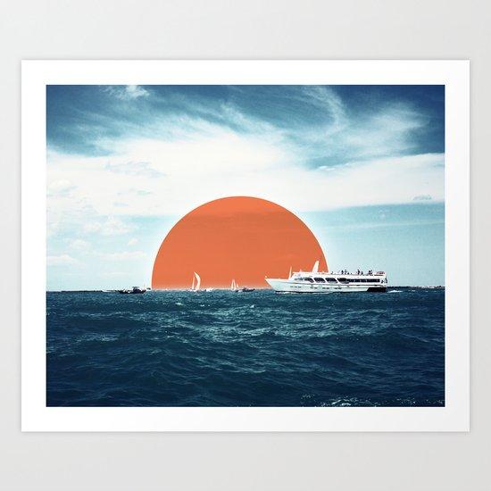 Shipping Sun Art Print