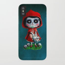 Spooky Red Riding Hood iPhone Case