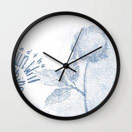 Sun will shine ... Blue Wall Clock