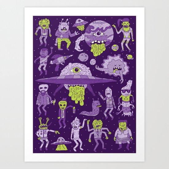 Wow! Aliens!  Art Print