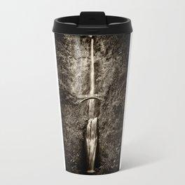 Waterfalls-B&W-Sepia Travel Mug