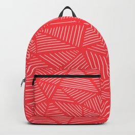 Tomato Red Triangles Backpack