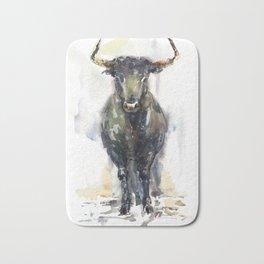 Black bull. Bath Mat