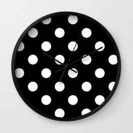 Polkadot (White & Black Pattern) Wall Clock