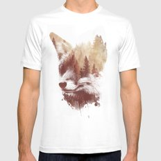 Blind fox White Mens Fitted Tee LARGE