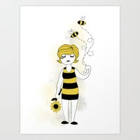 bees Art Prints featuring Bees by Flora