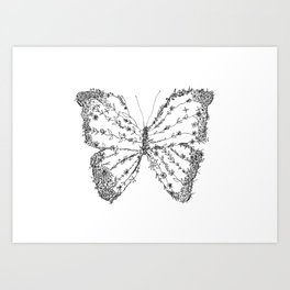 Butterfly - Intricate Design Art Print