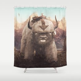 Appa in the Mountains Shower Curtain