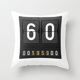 Mechanical Letter Board 1959 60th Birthday Gift idea drawing Throw Pillow