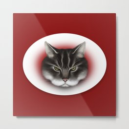 sinister kitty Metal Print