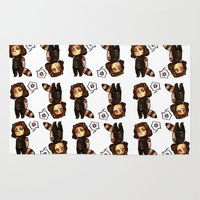 bucky Area & Throw Rugs featuring raccoon!bucky v.2 by zombietonbo