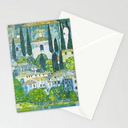 """Gustav Klimt """"Church in Cassone"""" Stationery Cards"""
