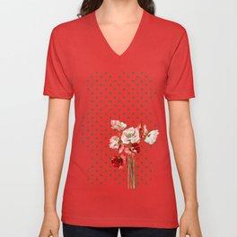 Poppies and Polkadots Unisex V-Neck