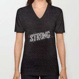 STRONG (White type) Unisex V-Neck