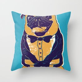 Henry the Pug Throw Pillow