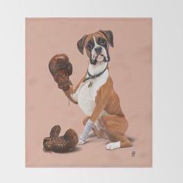 The Boxer (colour) Throw Blanket