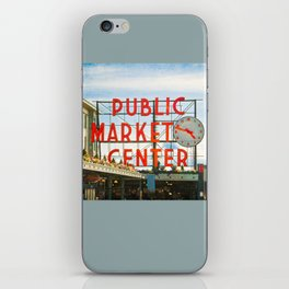 Seattle Pike Place Market iPhone Skin