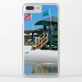 Welcome To Siesta Key Beach Clear iPhone Case