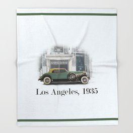 A Duesenberg in Los Angeles Throw Blanket