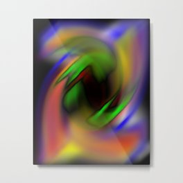 Curves of Color Metal Print