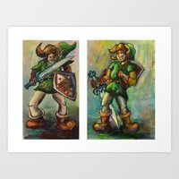 legend of zelda Art Prints featuring Zelda by Matt Tanzi