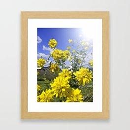 POWER FLOWER Framed Art Print