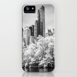 Central Park and Midtown Manhattan in Infrared iPhone Case