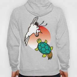 Crane and turtle Hoody