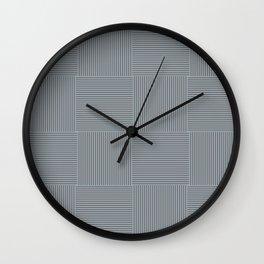 Rayures stripes gris bleu grey blue Wall Clock
