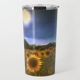 Moonlit Sunflowers Travel Mug