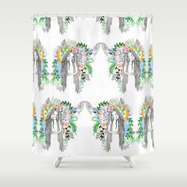 The flowers twins Shower Curtain