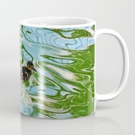 Mallard duckling swimming Coffee Mug