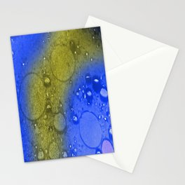gold water Stationery Cards