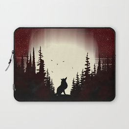 Red Forest Fox Laptop Sleeve